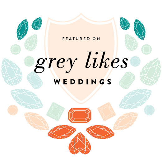 Featured on Gray Likes Wedding