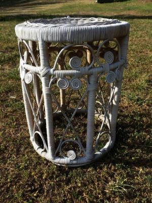 Where to find White Rattan Side Table in San Francisco