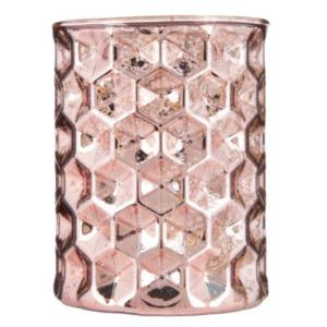 Where to find Blush Mercury Glass Candle Holder in San Francisco