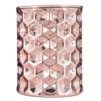 Rental store for Blush Mercury Glass Candle Holder in San Francisco CA