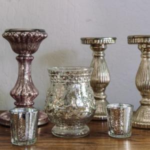 Where to find Metallic PIllar Candle Holders in San Francisco