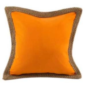 Where to find Orange Canvas Pillows with Jute in San Francisco