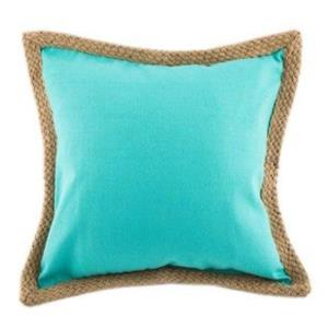 Where to find Turquoise Canvas Pillows with Jute in San Francisco