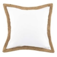 Rental store for White Canvas Pillows with Jute in San Francisco CA