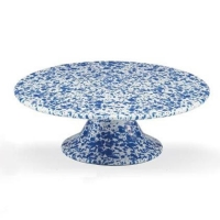 Rental store for Blue Splatter Enamel Cake Stand in San Francisco CA