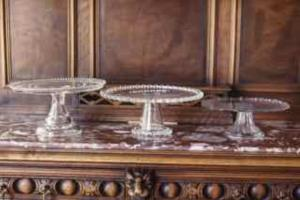 Where to find Clear Diamond Depression Glass Cake Stan in San Francisco