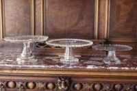 Rental store for Clear Diamond Depression Glass Cake Stan in San Francisco CA