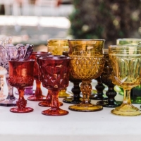 Rental store for Depression Glass Goblets in San Francisco CA
