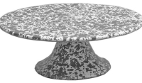 Rental store for Grey Splatter Enamel Cake Stand in San Francisco CA