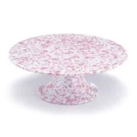 Rental store for Pink Splatter Enamel Cake Stand in San Francisco CA