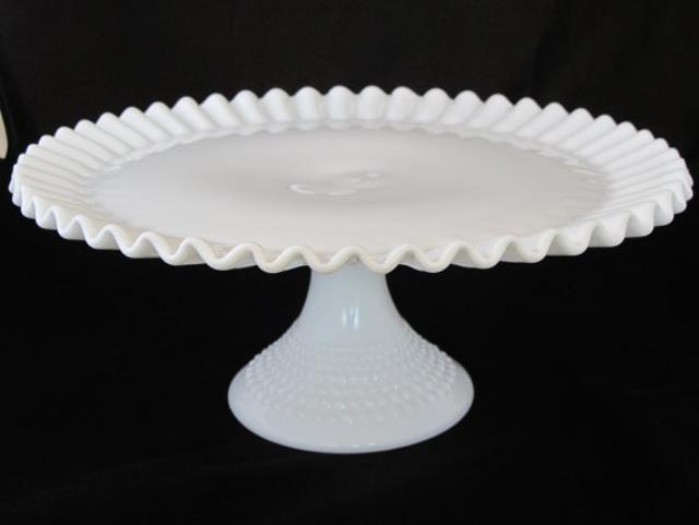 Where to find Fenton Hobnail Milk Glass Cake Stand in San Francisco