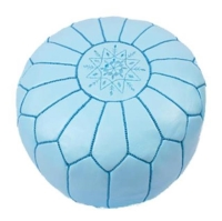 Rental store for Morrocan Pouf - Light Blue in San Francisco CA