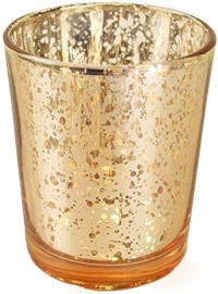Rental store for Speckled Gold Glass Candle Holder in San Francisco CA