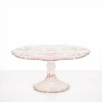 Rental store for Pink Glass Cake Stand - Small in San Francisco CA