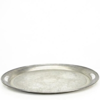 Rental store for Large Oval Silver Tray in San Francisco CA