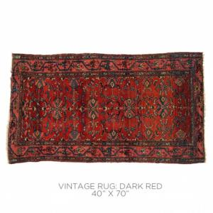 Where to find Vintage Rug - Dark Red in San Francisco
