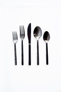 Rental store for Arezzo Brushed Black Flatware in San Francisco CA