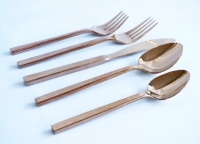 Rental store for Arezzo Rose Gold Flatware in San Francisco CA